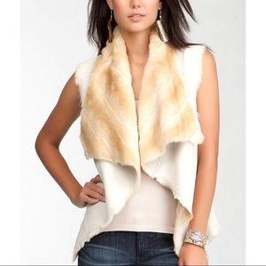 BEBE reversible faux fur vest